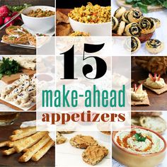 25 party food recipes rounding food and recipes 15 make ahead appetizers that can be made in advance for a party forumfinder Gallery