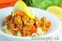 Nízkosacharidové kuracie prsia s mrkvou a karfiólovou ryžou