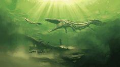 A Vivid Jurassic World | Prehistoric Art By Simon Stalenhag