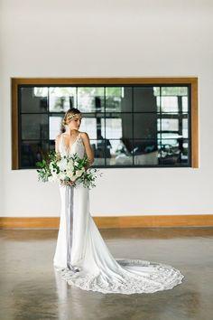 Invitation Designer: Watercolor Contemporary Wedding Inspiration, Industrial Wedding Inspiration, Event Lighting, Grey And White, Gray, Bridesmaid Dresses, Wedding Dresses, Event Venues, Event Decor