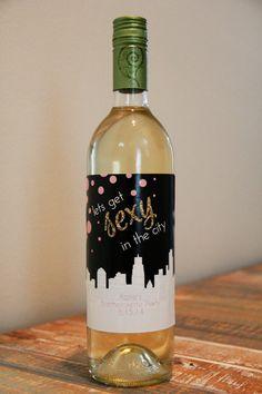 bachelorette wine bottle label, bachelorette party wine bottle label, bachelorette party favor, wine party gift, bachelorette decorations