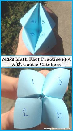 Cootie catchers are a simple way to make math fact practice fun, mixing kinesthetic, visual, and auditory learning all in one simple math activity. Math For Kids, Fun Math, Math Activities, Creative Activities, Math Fact Practice, Math Help, Learn Math, Family Math Night, Parent Night
