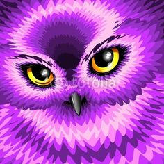 New at #Fotolia! ^_^ #Pink #Owl #Eyes © bluedarkat #62222269 - http://it.fotolia.com/id/62222269/partner/200929677
