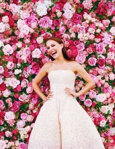 The Hottest 2015 Wedding Trend: 22 Flower Wall Backdrops - all things wedding.