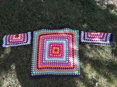 Granny Square Sweater Crochet Boho Sweater Knit Sweater Women Clothing Fashion Accessories Gift Ideas You are in the right place about Knitting scarf Here we. Crochet Bolero, Crochet Coat, Crochet Clothes, Boho Crochet, Chunky Crochet, Crochet Granny, Boho Pullover, Granny Square Sweater, Popular Crochet