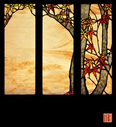 Japanese Maple panels for a front door of a home on Whidbey Island, Washington, by Theodore Ellison, Oakland, CA