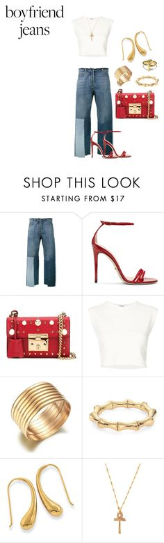 """""""Babygirl"""" by sanvernetas ❤ liked on Polyvore featuring Valentino, Gucci, Puma and boyfriendjeans"""