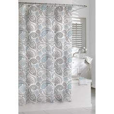 Paisley Cotton Shower Curtain