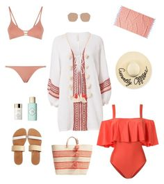 """""""Untitled #55"""" by cristinestyle on Polyvore featuring Cool Change, ADRIANA DEGREAS, Eugenia Kim, Isapera, Benefit, Clé de Peau Beauté, Linda Farrow, Mar y Sol, Melissa Odabash and JR by John Robshaw"""