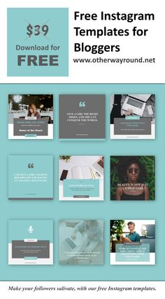 This Instagram Templates for Bloggers pack has 9 free Instagram templates, you can promote your upcoming podcast, your latest blogs, you can use the quote templates to motivate your followers and much more.  So go ahead and download this Instagram Templates for Bloggers pack and impress your followers on Instagram. Instagram Feed Layout, Instagram Grid, Instagram Design, Free Instagram, Instagram Blog, Instagram Quotes, Instagram Posts, Social Media Design, Social Media Branding