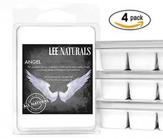 Lee Naturals Classics - (4 Pack) ANGEL Premium All Natural 6-Piece Soy Wax Melts. Hand Poured Naturally Strong Scented Soy Wax Cubes * More info could be found at the image url. #ScentedCandles