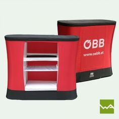 AUFBLASBARE MESSETHEKE - MB-AIRDESK TWO für ÖBB von dieWerbearchitekten Retail Counter, Unique, Products