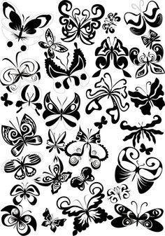 Decorative butterflies vector | Vector Graphics Blog