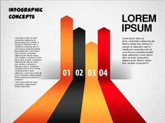 PowerPoint Template 5 Creative Inspiration, Lorem Ipsum, Bar Chart, Infographic, Concept, Graphic Design, Templates, Grief, Stencils