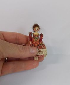 Queen Anne Style Doll Miniature Vintage Inspired