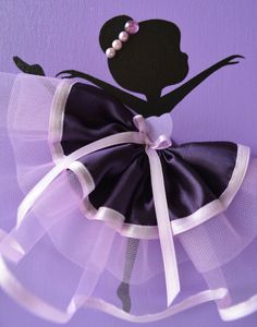 Arte de pared de bailarina. Decoración de la pared por FlorasShop