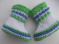 Ravelry: Project Gallery for Simply Green Baby Booties. pattern by Tanya Lapatsina