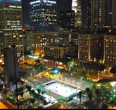 Pershing Square Ice Rink - Las Angeles, CA  #Yuggler #KidsActivities #IceSkating