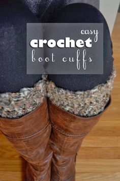 easy crochet boot cuffs | #crochet #bootcuffs