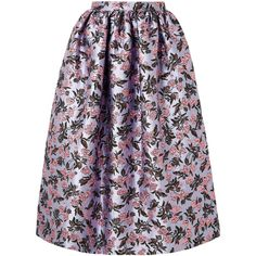 Erdem Hebe metallic brocade midi skirt (6,460 PEN) ❤ liked on Polyvore featuring skirts, lilac, metallic skirt, lilac midi skirt, erdem, erdem skirt and midi skirt