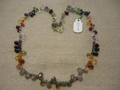 "Natural Multi Stone Multi Shape Faceted 17"" Beads Fancy Necklace, 127 Cts…"