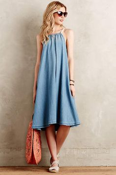 Chambray Swing Dress - anthropologie.com #anthrofave