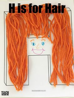 preschool H craft- H is for Hair