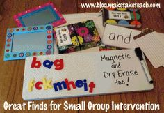 Time to restock your small group intervention area.  Great finds in the Walmart school suppy area.