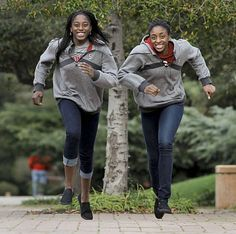 Stanford University women basketball players, sisters, Chiney, (left) and Nneka Ogwumike on the Palo Alto, Ca. campus on Tuesday Dec. 21, 2010.