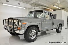 "Beautiful color! 1978 Jeep J-10 Truck Pewter Gray Metallic/Blue ""Levi's"" interior~"