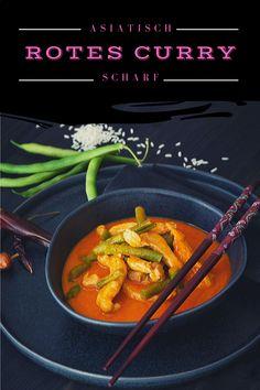 Man nehme Hühnerfleisch, grüne Bohnen und rote Currypaste und fertig ist das asiatische Curry. Ja, es ist tatsächlich so einfach und ist in 20 Minuten auf dem Tisch. Olaf, Green Beans, Vegetables, Food, Red Kidney Beans Recipe, Meat, Food Food, Simple, Recipes