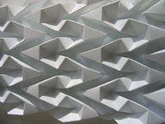 faceted ballerina's shoe & ribbons by polyscene_ folded polypropylene