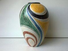 Ruscha Vase Milano Decor Nr West German by VintageVektor Pottery Vase, Ceramic Pottery, Ceramic Art, Mosaic Flower Pots, Flower Vases, Pottery Painting Designs, Paper Vase, Keramik Vase, Clay Vase