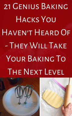 Baking Secrets, Baking Hacks, Baking Tips, Baking Recipes, Food Tips, Diy Food, Food Hacks, Master Baker, Cake Hacks