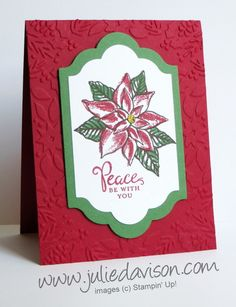 Julie's Stamping Spot -- Stampin' Up! Project Ideas by Julie Davison: Stampin' Up! Reason for the Season Christmas Card