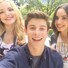 #Believe in selfies. Especially selfies with this handsome guy and this beautiful girl. @shawnmendes @dovecameron