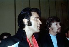 Elvis and Sonny West.