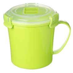 Amazon.com: 3 Sistema Klip It Single Microwave Soup to Go Mug, 656ml, Assorted Colours: Kitchen & Dining