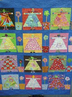 Freddy Moran Kids so cute. Cute Quilts, Boy Quilts, Girls Quilts, Scrappy Quilts, Bright Quilts, Colorful Quilts, I Spy Quilt, African Quilts, Contemporary Quilts