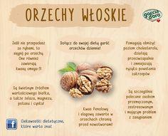 orzechy Wellness Tips, Health And Wellness, Benefit, Healthy Lifestyle, Garlic, Vegetables, Eat, Sport, Tables