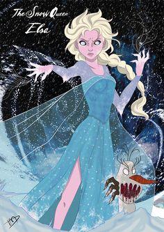 Les princesses Disney plus flippantes que jamais version Gothique | fénoweb