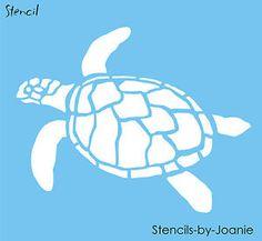 Turtle-STENCIL-Ocean-Sealife-Sand-Beach-Animal-Tortoise-Wall-Art-Tattoo-U-Paint