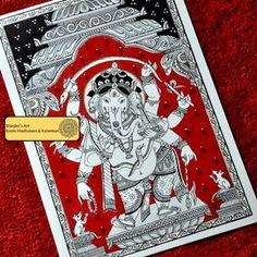 The Dancing Ganesha (Indian Kalamkari)