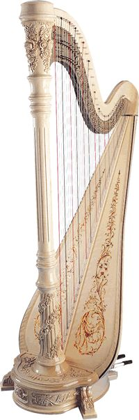 Venus Harps Classic Concert. Not in white - but how fancy would this look in my living room?