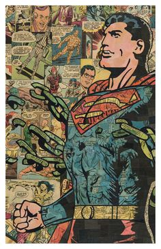 11x17 Digital crop of my original Superman Chains collage. Each print will be hand signed. Printed on 80 lb. matte paper Ships in 13x18 stay flat mailer