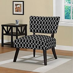 @Overstock - Chippendale Occasional Ivory/Black Chair. This striking chippendale occasional chair will make a bold style statement in your living space. The chair features a modern ivory pattern against a black background. Solid hardwood legs and a spring seat make the chair both comfortable and stylish.http://www.overstock.com/Home-Garden/Chippendale-Occasional-Ivory-Black-Chair/5203266/product.html?CID=214117 $117.99