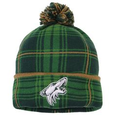 best service 1aa5f b7185 Men s Arizona Coyotes Reebok Green St. Pats Cuffed Pom Knit Hat, Sale    20.99 - You Save   7.00. NHL Caps   Hats