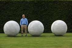 Sculptor Peter Randall-Page poses next to 'In Mind of Monk' one of his works which adorn Yorkshire Sculpture Park as part of it's Summer exhibition on June 2009 in Wakefield, England. Get premium, high resolution news photos at Getty Images Outdoor Sculpture, Modern Sculpture, Garden Sculpture, Peter Randall Page, Yorkshire Sculpture Park, Home Photo, Land Art, Installation Art, Art History