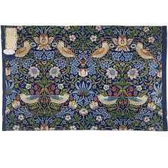 The strawberry thief fabric design by William Morris