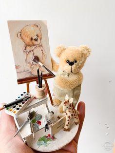 Theodore by Shaz Bear Lemur, Orangutan, Panda Bear, Guinea Pigs, Squirrel, Plush, Teddy Bears, Toys, Bear Hugs